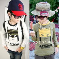 Free shipping Korean foreign trade children's clothing wholesale brand T-shirt bottoming shirt Batman jacket TZ18A56