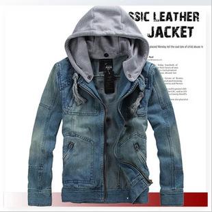 Free shipping plus size XXL XXXL Denim jacket coat autumn and winter men s clothing brand