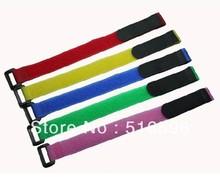 25 шт./лот многоразовые velcro-фиксатор кабеля связи ремни с пластиковой кнопки на липучке нейлона ремень с пряжкой 20 * 200 мм на липучке крюк
