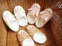 Cute cartoon bunny slippers, ladies indoor floor slippers, women slip slippers