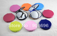 60 Pcs 70MM Multicolor  Blank  Compact Mirror Candy Color DIY Portable Metal Cosmetic Mirror Wedding Gift - Free Shipping