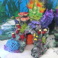 Fish tank aquarium decoration supplies plants coral rockery 072