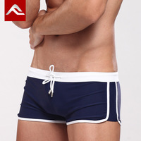Acefit male sidepiece lines boxer swimming trunk swimwear fashion swimwear plus size available swimming pants male