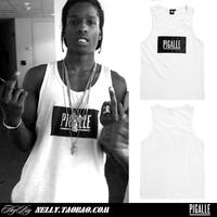 Pigalle ap a rocky hba pyrex pure cotton vest men's clothing bboy hip-hop dance vest