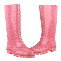 Free shipping Beautiful rain shoes fashion rain boots Waterproof Wellies Water Boots High Top long rubber shoes for women