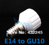 Free Shipping+5pcs/lot. E14 TO GU10 adapter. E14 TO GU10 Lamp Holder. High quality material fireproof material socket adapter.