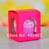 Wholesale 60pcs/lot Pie Cookie Paper holder Boxes, Mooncake Food baking cup cake boxes hold single cake