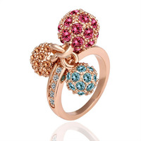 18K gold plated ring fashion ring Genuine Austrian crystals italina ring,Nickle free antiallergic factory prices jtg jcr