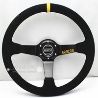 Free Shipping 2014 new sparco steering wheel modification / 14 inch imitation racing wheel / leather steering wheel scrub