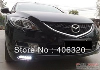 2x LED DRL Driving Daytime Running Day Fog Lamp Light For mazda 6 atenza Free shipping