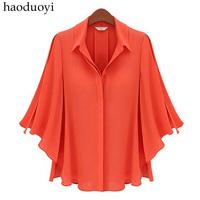 Fashion camisas femininas 2014, women loose blouse,ladies designer blouses free shipping