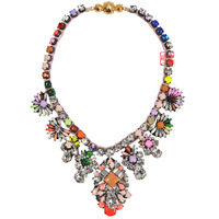 Shourouk Luxury Wholesale bib necklace statement collar  fashion pendant colorful rainbow  Necklace 2014 women shourouk gift
