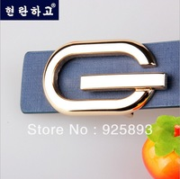 Free Shipping! 2014 new 100% Genuine leather smooth buckle G design belts for mens & womens .High quality brand belt.