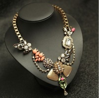 2014  fashion women necklace J C Europe costume chunky choker crystal pendant  Necklaces statement  jewelry women