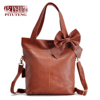 Leather 2013 women's handbag zipper first layer of cowhide one shoulder cross-body handbag large bag