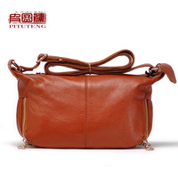 Leather leather bag genuine leather handbag women's shoulder bag messenger bag female handbag women's