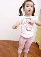 Free shipping 2015 New arrival baby clothes sets fashion and cute girls clothes sets 5set