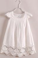 new 2014   Girls Summer  white lace dress 6pcs/lot wholesale