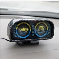 freeshipping Car typer balancing instrument car guide the ball compass off-road vehicles level meter slope meter