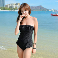 Women 2014 Lace Sexy One Piece Swimwear Plus size XL Bathing Suit Swimsuit Vintage Beach Swim Suits Monokini Womens Spring Wear
