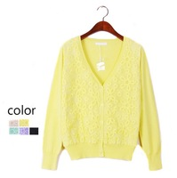 Hot sale 2014 Spring Fashion Clothes Cardigan 100% cotton organza knitted sweater cardigan Woman Thin coat woman