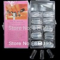 Free shipping 100pcs Dual Clear Nail System Form for Uv Acrylic Fake Nail false nails Art Tip