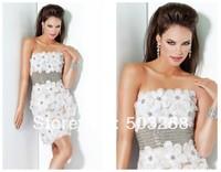 NCD20 short mini length glamorous handmade flower cocktail dress 2014 new fashion