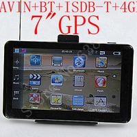 "FREE SHIPPING 7"" GPS NavigatIon MTK3351 CE6.0 533M 128M Internal 4GB+AVIN+bluetooth+ FM +ISDB-TV FOR SOUTH OF AMERICAN &BRAZIL"
