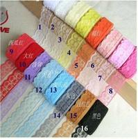 2cm Vintage lace,candy color lace,embelishments for cloth,trim lace for DIY,garment accessories(ss-3006)