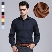 2013 winter male thermal shirt plus velvet thickening commercial slim long-sleeve plus size shirts