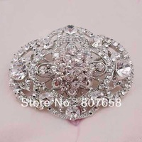 free shipping 6pcs/pack The Buckle Boutique Beautiful Oval Rhinestone Brooch Pin for Arts and Crafts, item no.: BH7654