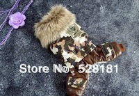 Free shipping,Camouflage pet clothes,The new fashion   pet products, dog clothes, pet winter clothes. Dog Coverall, warmmer