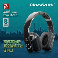 Newest Bluedio R2 8 track 8 speaker/ noise cancelling/HIFI Bluetooth Headset v4.0 Card Stereo Hifi Earphones