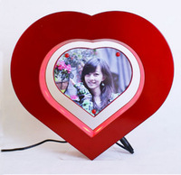 Electro Magnetic levitation Heart Shaped Floating Photo frame  LED Lights Novelty Gift