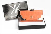 2014 new kardashian kollection crocodile pattern women fashion solid color wallet kk bags continental - shipping