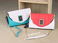 kk 2014 new small shoulder slanting cross female bag brown fashion chain kardashian kollection - shipping