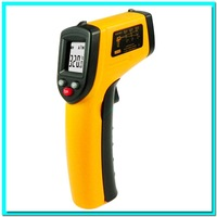 Free shipping Non-Contact IR Laser Infrared Digital Thermometer LCD Digital Infrared Pyrometer Laser Point Temperature GM320