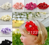 FREE SHIPPING! 2014 New Style Rhinestone Headband Hairband Baby Girls Flowers Headbands Kids Hair Accessories