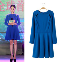 2014 women's spring star cutout before and after the one-piece dress basic skirt short skirt