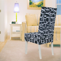 100% cotton canvas all-inclusive one piece chair cover dining chair set professional customize good workmanship f08