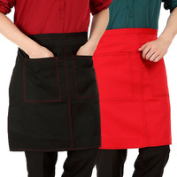 Collar chef apron half-length work wear apron household aprons