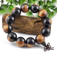 High Quality Ebony Beads Bracelets 100% Natural Wood Bracelets Men Jewelry 0154