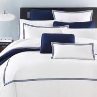 2014 new arrival duvet cover set king size five star hotel bed linen comforter set 4pcs white and blue bedclothes/bed set