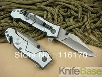 EXTREMA RATIO MF2 Small Size Gray Folding knife Pocket Hunting Knives 440 57HRC Blade Metal Aluminium Handle free shipping