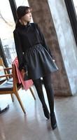 2013 autumn and winter women woolen high waist pleated bust skirt short skirt sun dress
