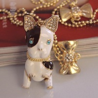 $ 15 free shipping 2014 new design fashion jewelry necklace movable puppy