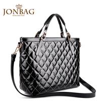 Female shoulder bag 2014 spring the trend women's handbag fashion black dimond plaid bags large