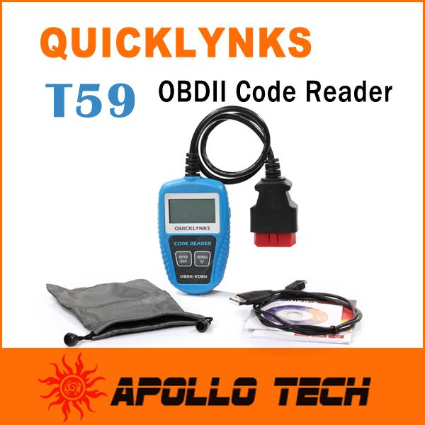 Leagend QUICKLYNKS Multi-language CAN OBDII Scanner T59 Mini Code Reader Handy Auto Diagnostic Tool OBD2 EOBD JOBD(China (Mainland))