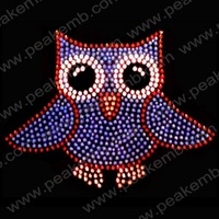 Best Selling Cute Parrots Rhinestone Design Strass Motif Wholesale Heat Transfers For Dresses 30Pcs/Lot Free Dhl Shipping