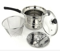 Stainless steel household thickening soup pot noodles fryer pan deep fryer multi-purpose universal induction cooker pot